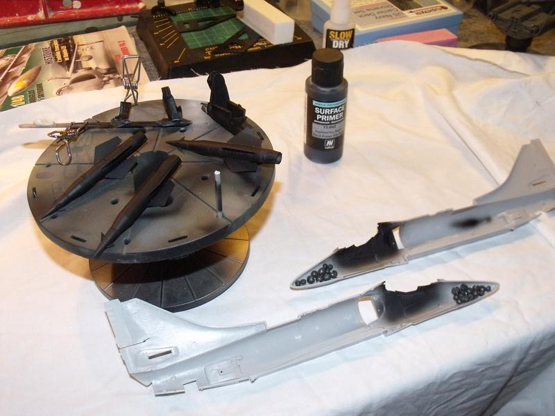 A-4 E Skyhawk - 1/ 48° Pont d'envol fait - Avion fini - accessoires de pont en confection. Dscf6661
