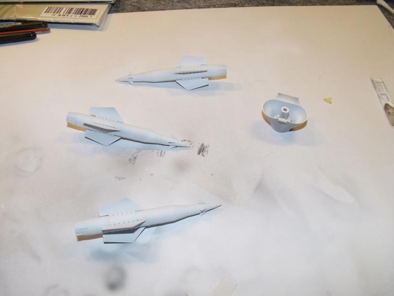 A-4 E Skyhawk - 1/ 48° Pont d'envol fait - Avion fini - accessoires de pont en confection. Dscf6662