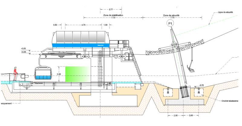 Dessins techniques, Plans 2D remontées mécaniques Tsf410