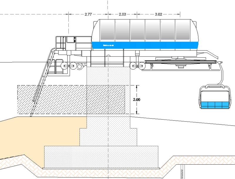Dessins techniques, Plans 2D remontées mécaniques Tsf4_310