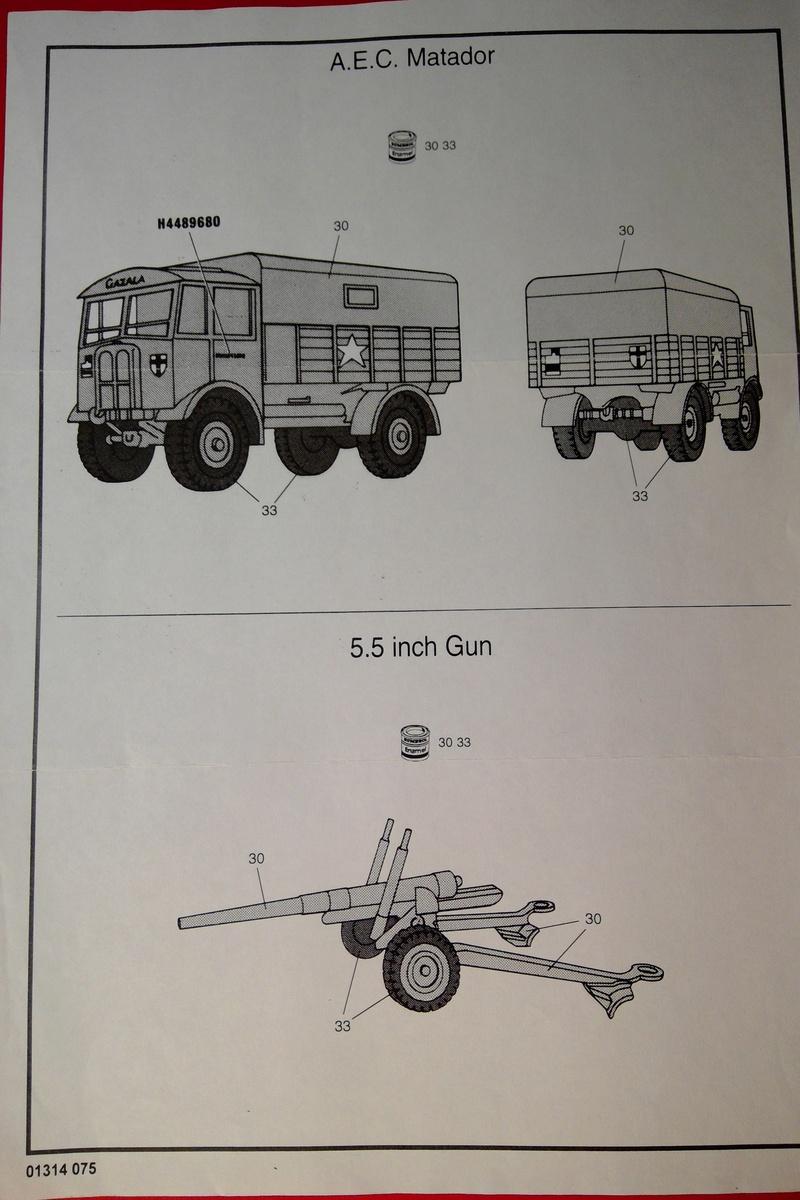 [AIRFIX] Camion A.E.C. MATADOR & CANON DE 5,5 pouces 1/76ème Réf 01314 Notice Airfi142