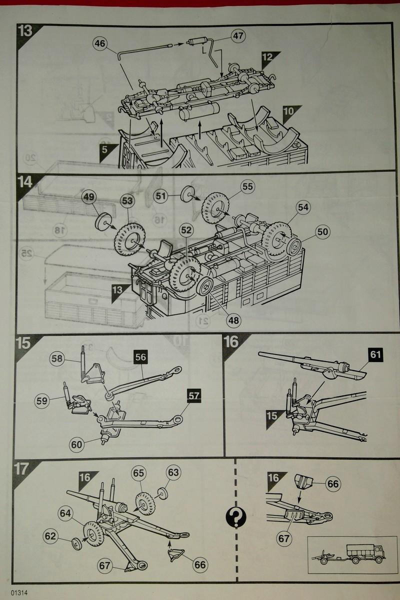 [AIRFIX] Camion A.E.C. MATADOR & CANON DE 5,5 pouces 1/76ème Réf 01314 Notice Airfi144