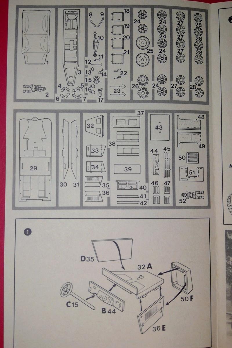 [ESCI] Semi chenillé 3 tonnes Sd Kfz 11 1/72ème  Réf 8015 Notice Esci_s13