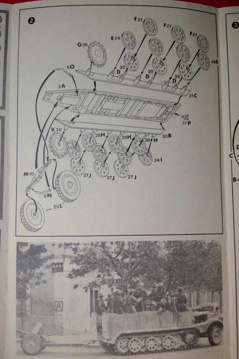 [ESCI] Semi chenillé 3 tonnes Sd Kfz 11 1/72ème  Réf 8015 Notice Esci_s15