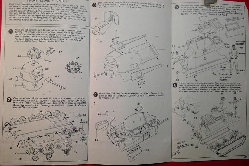 [HASEGAWA] Char M3 LEE 1/72ème Réf MB 4 Notice Hasega57