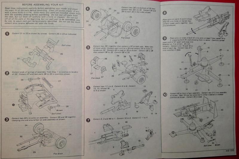 [HASEGAWA] Canon antiaérien de 88mm Flak 18 1/72ème Réf MB 10 Notice Hasega58