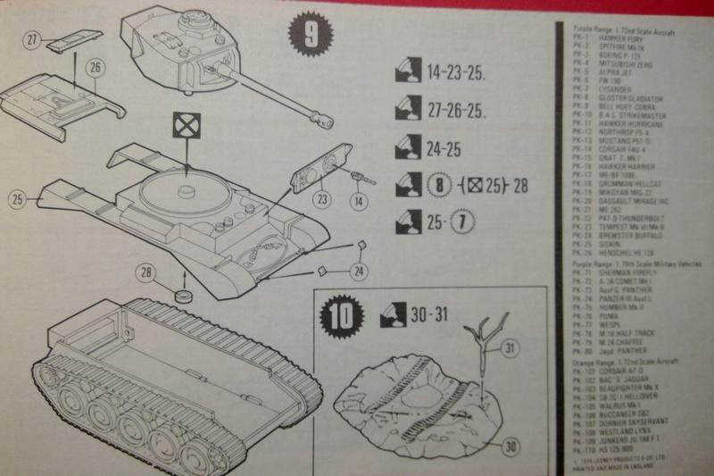 [MATCHBOX] Char A 34 Mk 1 COMET 1/76ème Réf PK  72 Notice Match101