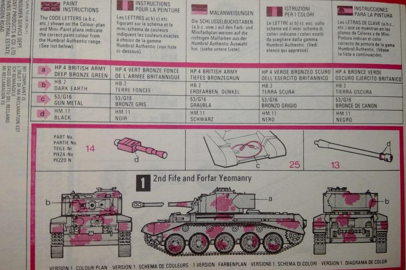 [MATCHBOX] Char A 34 Mk 1 COMET 1/76ème Réf PK  72 Notice Match104
