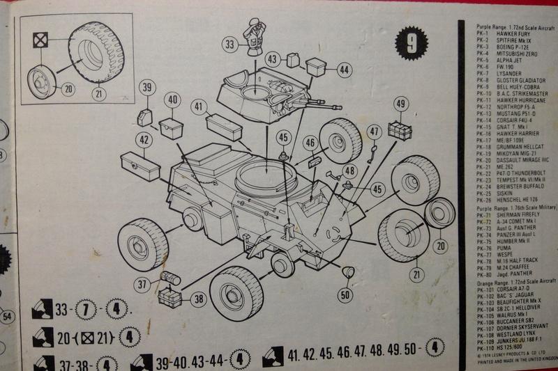 [MATCHBOX] Automitrailleuse blindée HUMBER Mk II 1/76ème Réf PK 75  Notice Match113