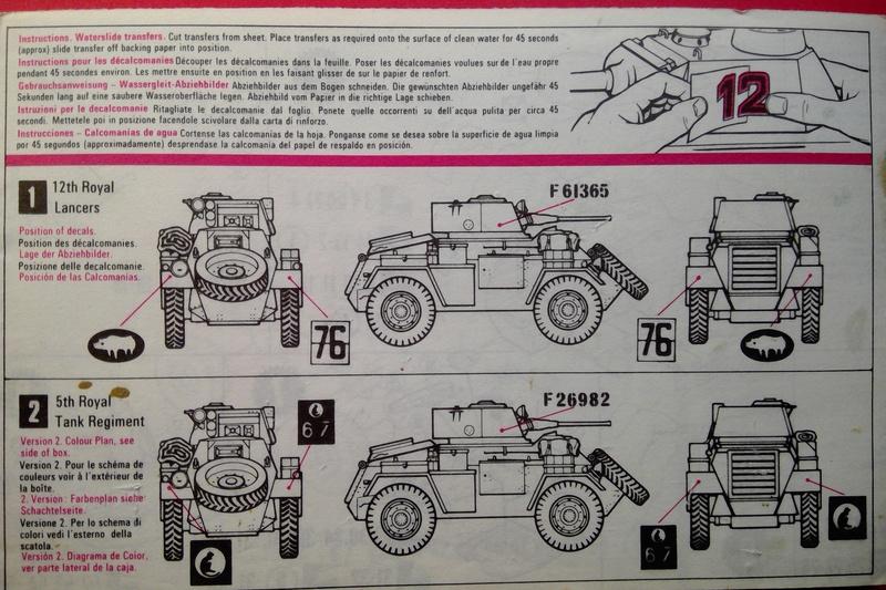 [MATCHBOX] Automitrailleuse blindée HUMBER Mk II 1/76ème Réf PK 75  Notice Match117