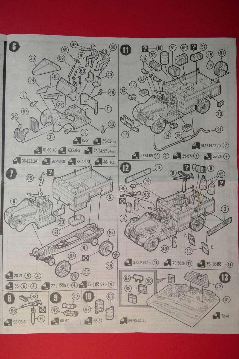 [MATCHBOX]  Camion CHEVROLET & WILLYS OVERLAND JEEP Long Range Desert Group 1/76ème Réf PK 173 Notice Match119