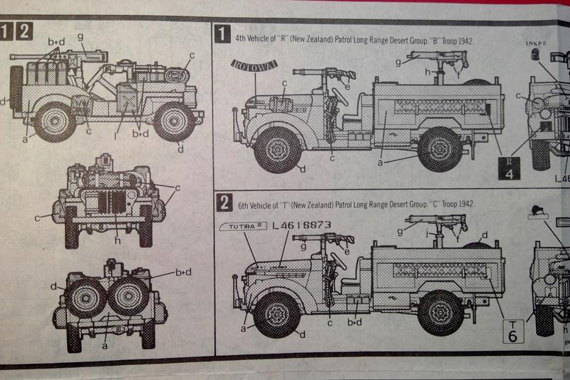 [MATCHBOX]  Camion CHEVROLET & WILLYS OVERLAND JEEP Long Range Desert Group 1/76ème Réf PK 173 Notice Match124