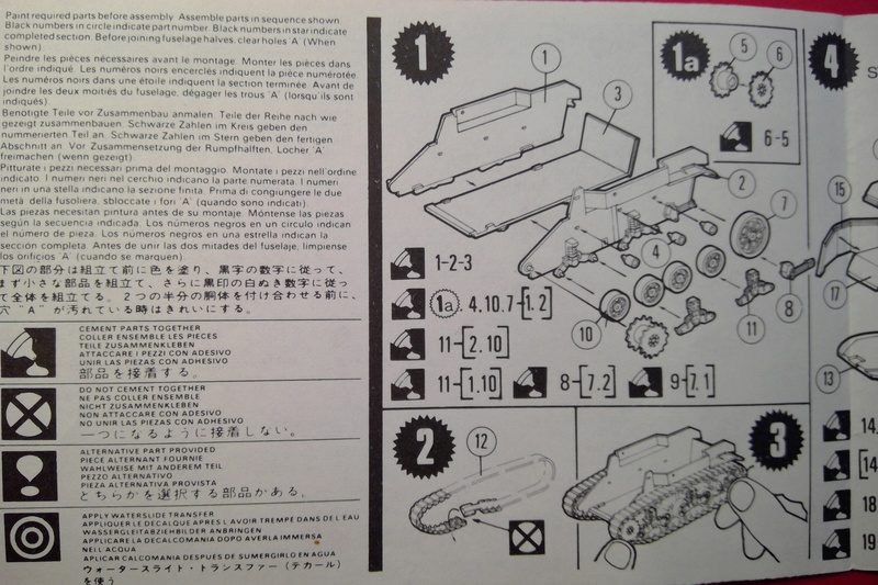 [MATCHBOX] Char M3 STUART HONEY 1/76ème Réf PK 84 Notice Match126