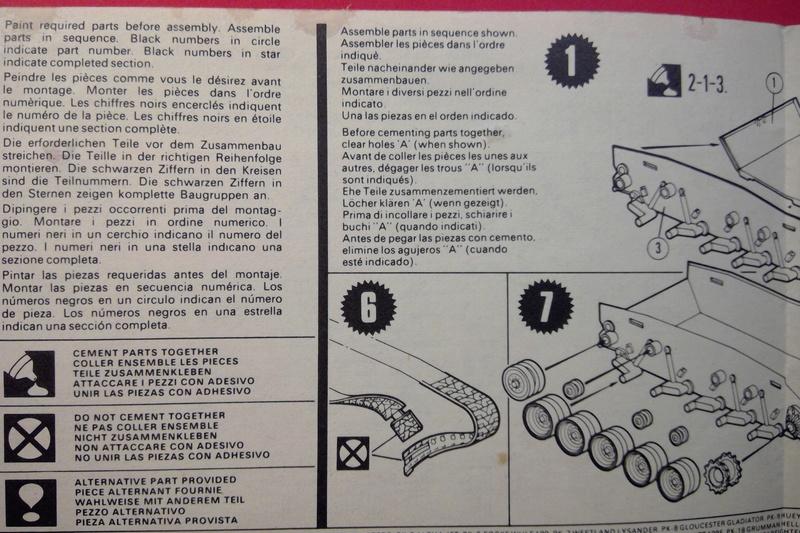 [MATCHBOX] Char M24 CHAFFEE 1/76ème  Réf PK 79 Notice Match138
