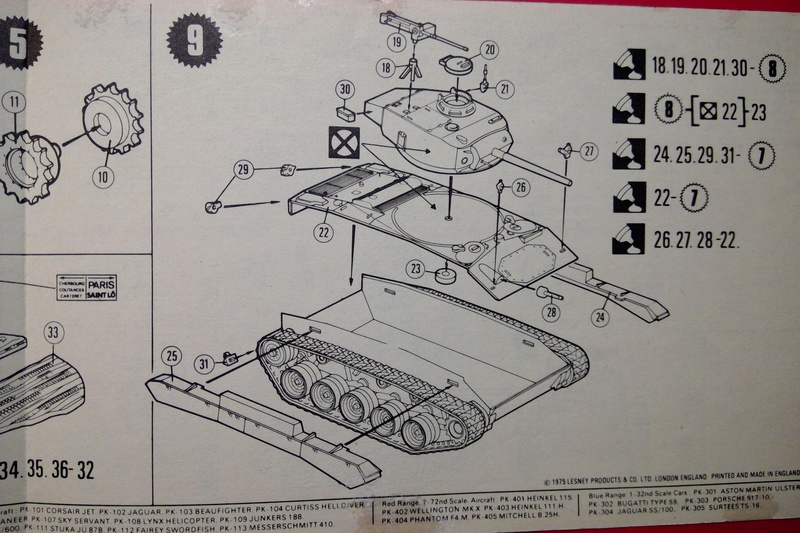 [MATCHBOX] Char M24 CHAFFEE 1/76ème  Réf PK 79 Notice Match139