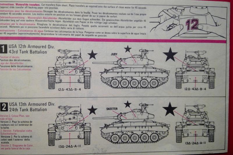 [MATCHBOX] Char M24 CHAFFEE 1/76ème  Réf PK 79 Notice Match140