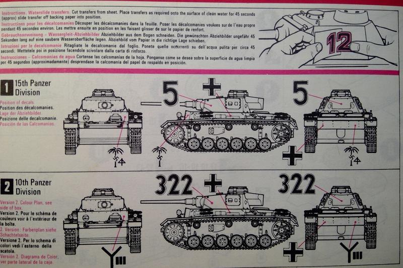 [MATCHBOX] Char PANZER III Ausf L 1/76ème PK 74 Notice Match147