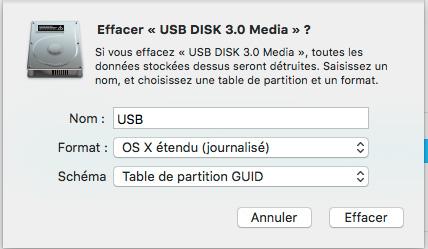 Probleme Installation macOS Sierra avec le USB INSTALLER 120
