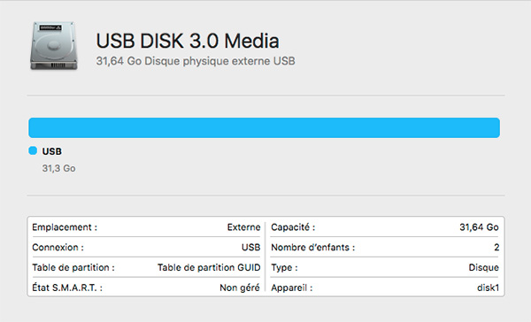 Probleme Installation macOS Sierra avec le USB INSTALLER 210