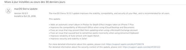 Update Sierra 10.12.1  Sans_t28