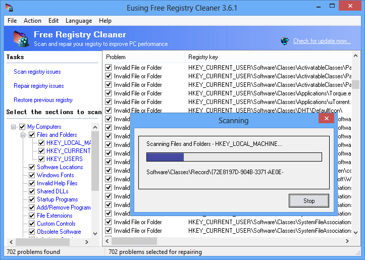 Eusing Free Registry Cleaner 4.3 Eusing10