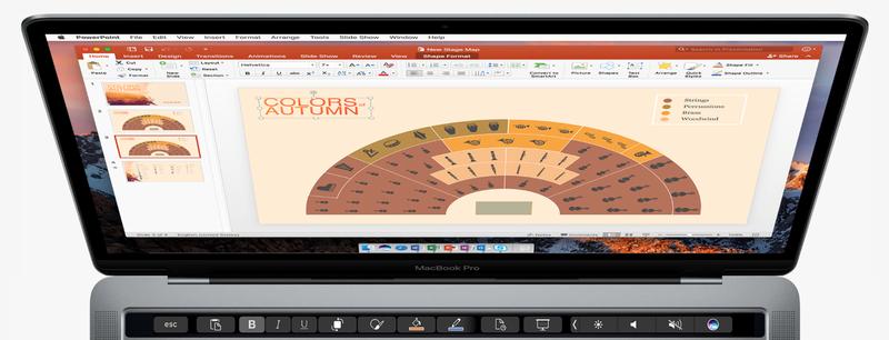 Η Microsoft φέρνει το Office στο νέο Touch Bar της Apple στους νέους MacBook Pro Micros11