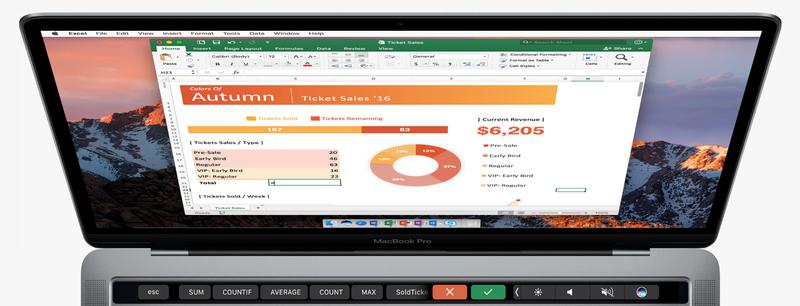 Η Microsoft φέρνει το Office στο νέο Touch Bar της Apple στους νέους MacBook Pro Micros12