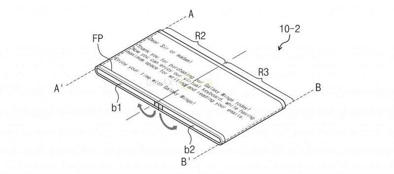 H Samsung κατέθεσε δίπλωμα ευρεσιτεχνίας για μια αναδιπλούμενη συσκευή με ονομασία Galaxy Wing Patent10