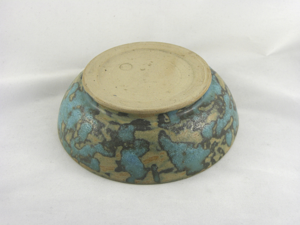 Bowl with mottled teal glaze Cimg2712