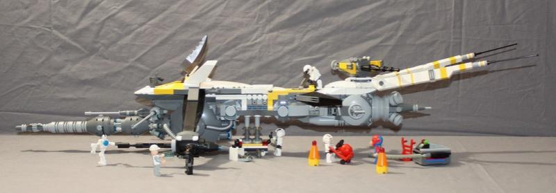 "shiptember - [MOC] SHIPtember: Galactic Mining Federation MD 181-o ""WYVERN"" class gunship. 212"