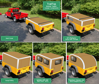 ''TrailTop'' Modular trailer Yellow10