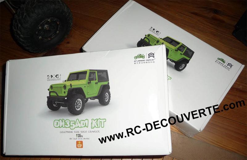Orlandoo OH35A01 Kit Jeep 1/35 mini crawler présentation découverte montage et essai Colis-11