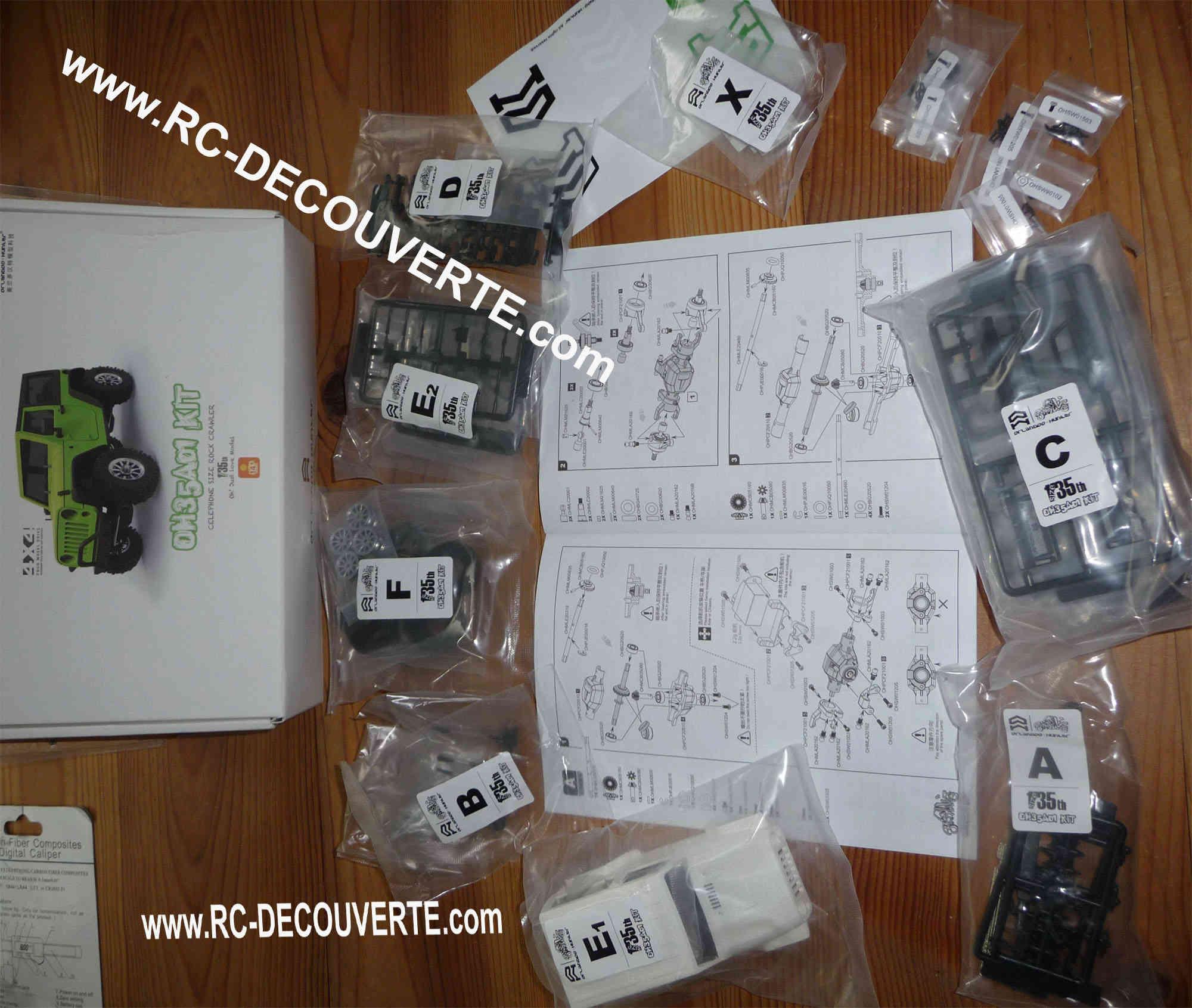Orlandoo OH35A01 Kit Jeep 1/35 mini crawler présentation découverte montage et essai Orland14