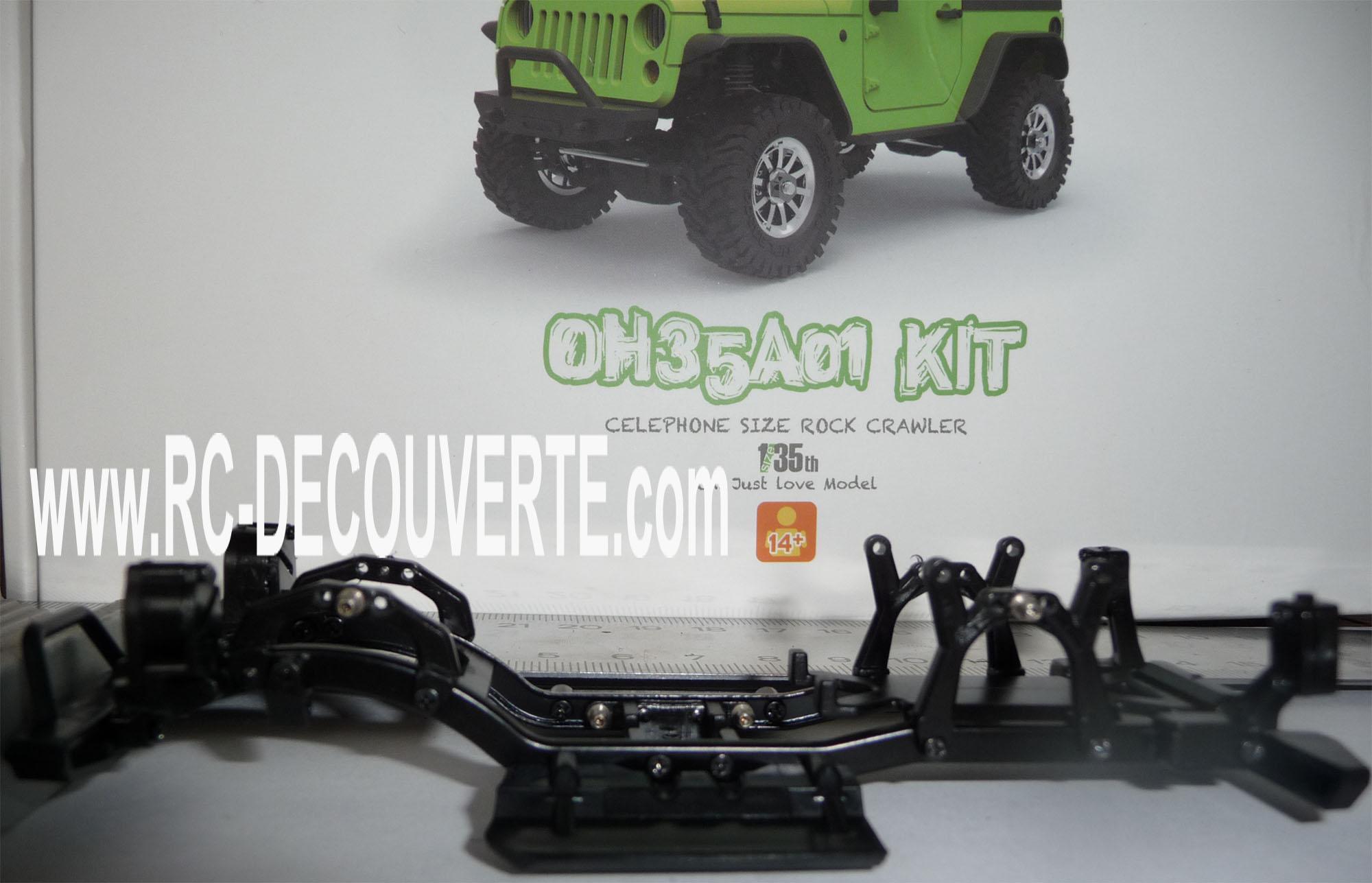 Orlandoo OH35A01 Kit Jeep 1/35 mini crawler présentation découverte montage et essai Orland16