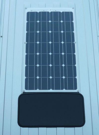 Pose panneau solaire souple 140W toit relevable + Régulateur MPPT Victron 75-15 Vwt510