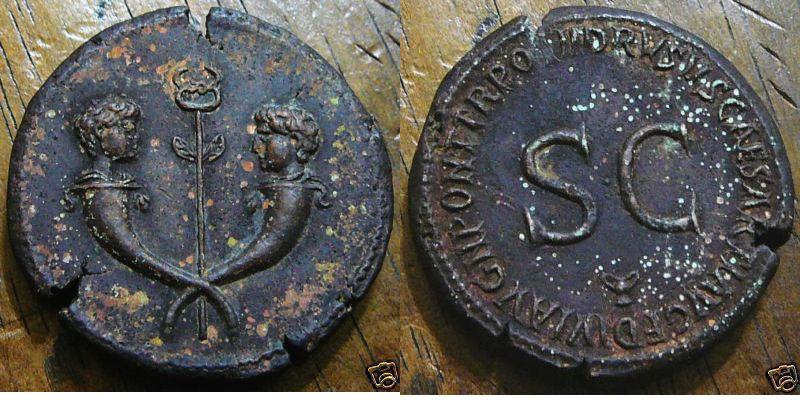 Sesterce Drusus Germanicus Drusus10