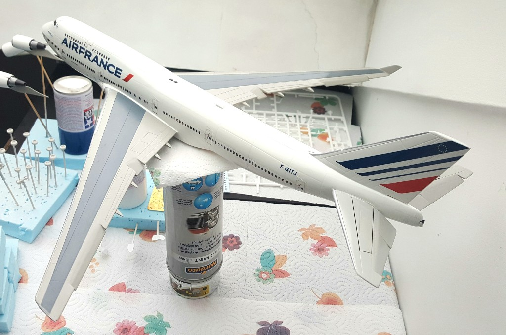 Boeing 747-400 Air France Revell 1/144 20190212
