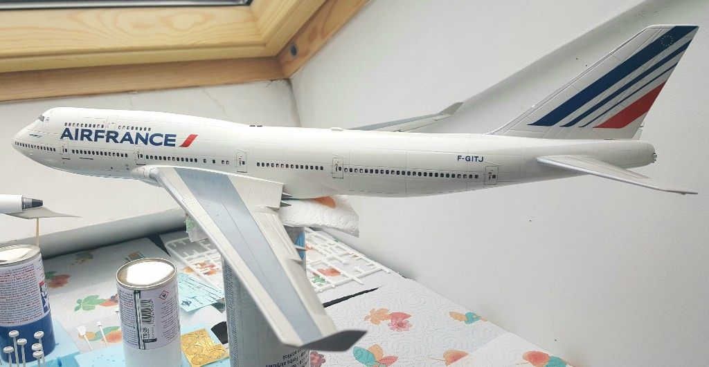 Boeing 747-400 Air France Revell 1/144 20190213