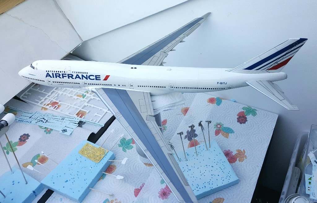 Boeing 747-400 Air France Revell 1/144 20190218