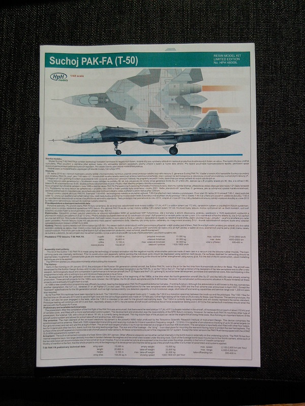 Sukhoy T-50 PAK FA / HPH Models, 1:48 02_13