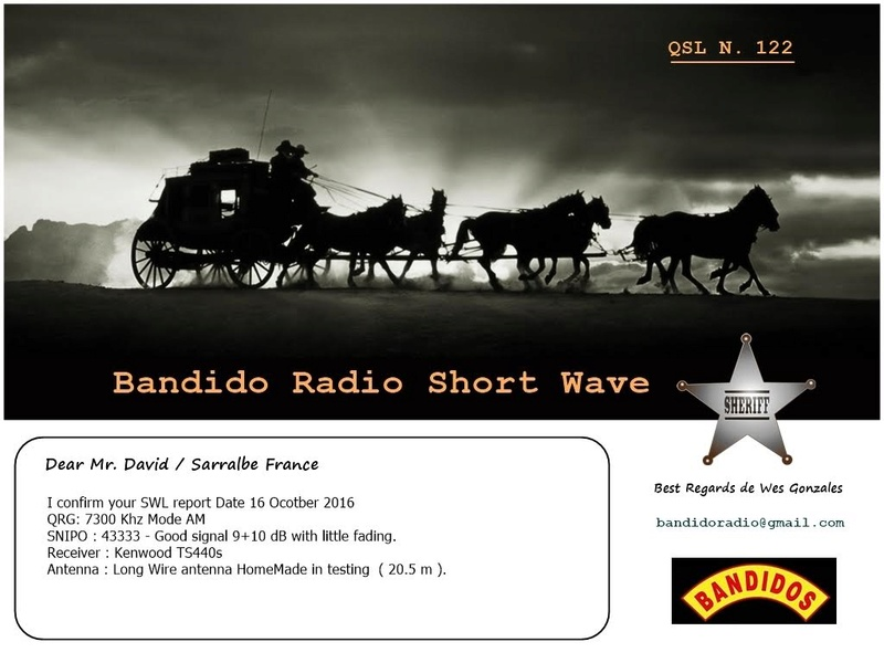eQSL de Radio Bandido 16-10-10