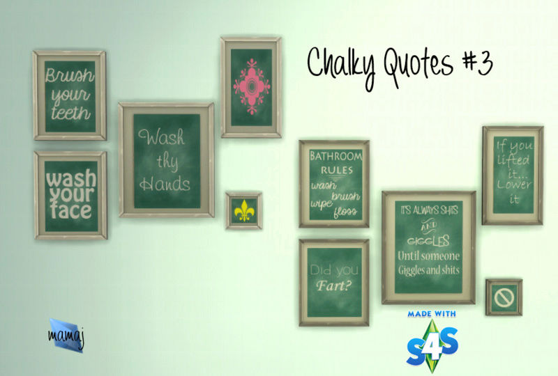 Chalky Quotes sets #2 & 3 10-02-12
