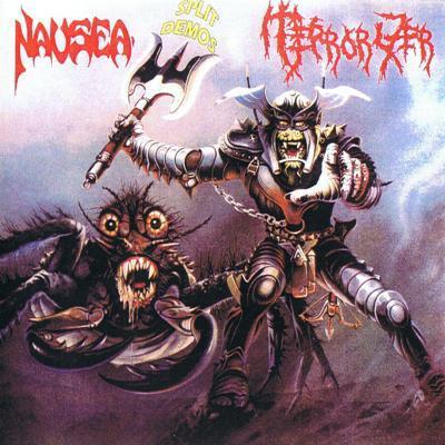 "Terrorizer - Nausea - [1991] Split Demos. 12"" vinyl. Limited Edition Terror10"