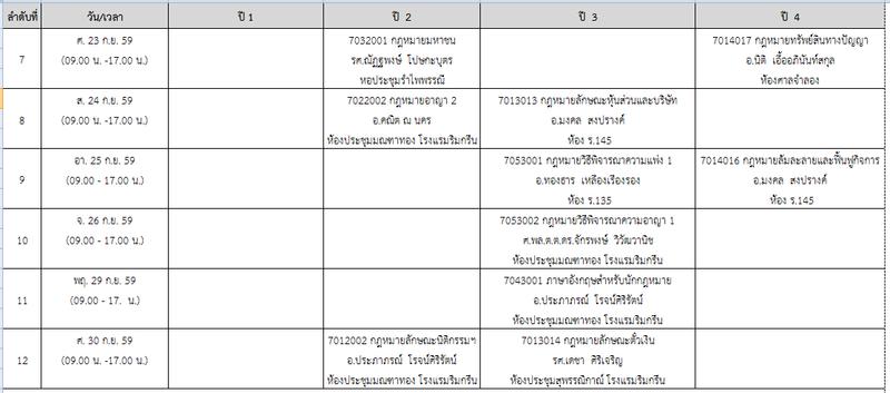 ประกาศตารางการบรรยายสรุป และ Block Course ประจำปีการศึกษา 1/2559 แก้ไขฉบับที่ 2 Block_13