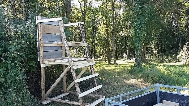 Construction mirador de battue étape par étape via PLC !  20160911