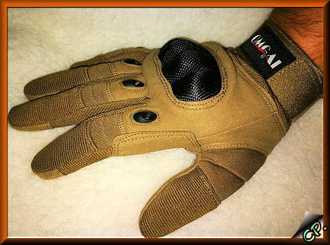 OMGAI Männer Volle Finger Handschuhe Kamel Angezo11