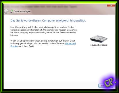 1byone Drahtlose Bluetooth QWERTZ  Tastatur und Multi Touchpad Erfolg11