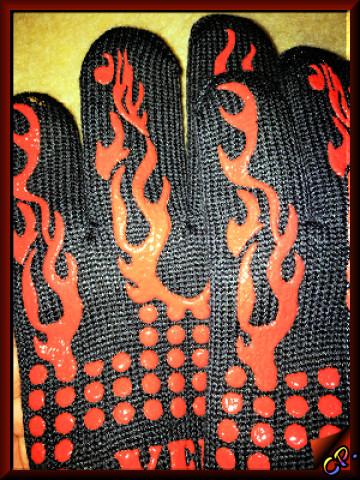 Yelun - Grillhandschuhe Ofenhandschuhe Finger13