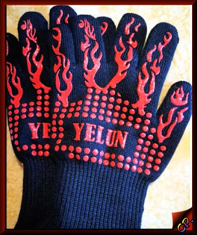 Yelun - Grillhandschuhe Ofenhandschuhe Handsc15
