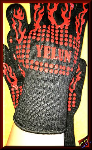 Yelun - Grillhandschuhe Ofenhandschuhe Handsc16